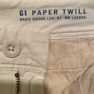 G1 Paper Twill Crop pant